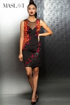 Jovani Short Dress with Multi-Colored Pattern M103