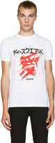 DSQUARED2 White Graphic T-Shirt
