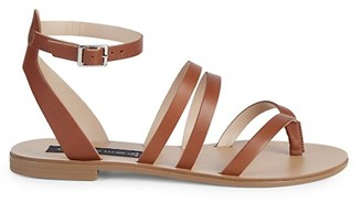 Steven by Steve Madden Madilyn Strappy Leather Ankle-Strap Sandals