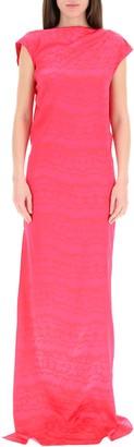 ATTICO Side-Slit Maxi Dress
