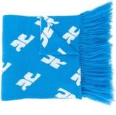 Courreges monogram print oversized scarf