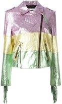 Philosophy Di Lorenzo Serafini - colour-block biker jacket - women - Goat Skin - 42