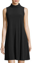 Neiman Marcus High-Neck Jersey A-Line Dress