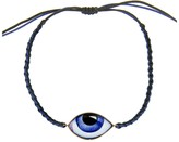 Lito Fine Jewelry Blue Enamel Evil Eye Cord Bracelet - Yellow Gold
