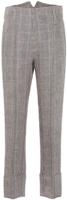 Brunello Cucinelli Checked linen pants