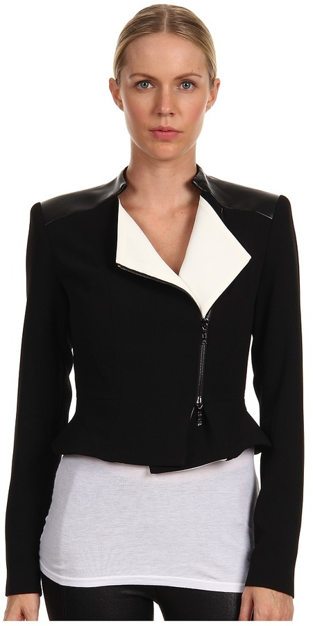 Rachel Roy Moto Jacket 10448113 (Black Combo) - Apparel