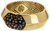 House Of Harlow Pave Hematite Inset Ring - Size 5