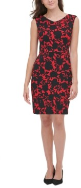 Tommy Hilfiger Shadow Rose Scuba Crepe Dress