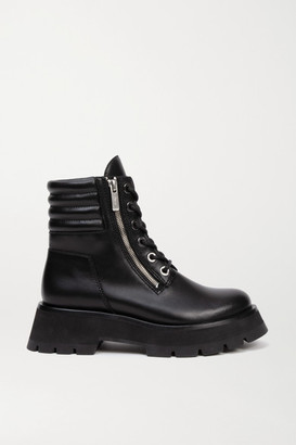 3.1 Phillip Lim Kate Leather Ankle Boots - Black