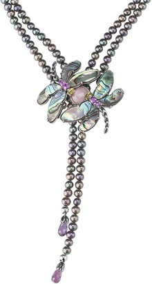 Carolyn Pollack Natural Beauty Dragonfly Statement Necklace