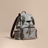 Burberry The Large Rucksack In Technical Nylon And Leather, Purple
