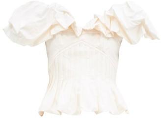 Johanna Ortiz Intellectual Femme Ruffled Cotton-blend Top - White