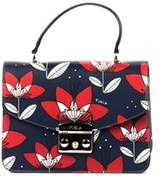 Furla Women's Blue/red Leather Handbag.