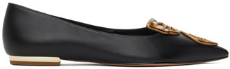 Sophia Webster Black and Gold Butterfly Ballerina Flats