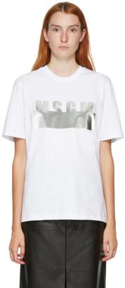 MSGM White Degrade T-Shirt