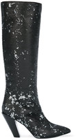 A.F.Vandevorst sequined knee high boots - women - Leather/Polyester/Sequin - 37