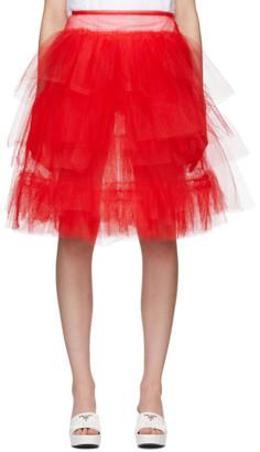 Simone Rocha Red Tutu Skirt