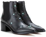 Valentino Garavani Starstudded leather ankle boots