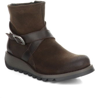 Fly London Women's Casual boots 029 - Ground & Dark Gray Sake Ankle Boot - Women