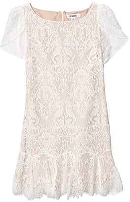 BB Dakota Fast Lace Environment Lace Dress with Nude Lining (Ivory) Women's Clothing