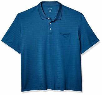 Van Heusen Men's Tall Flex Short Sleeve Stretch Stripe Polo Shirt