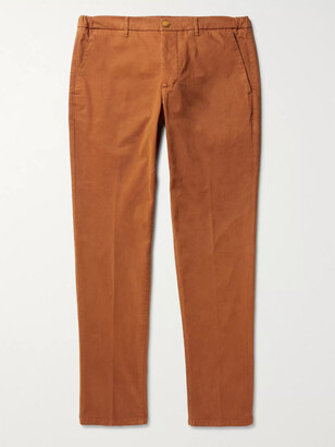 Altea Dumbo Slim-Fit Tapered Cotton-Blend Twill Trousers