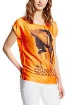 Rich & Royal rich&royal Women's Short Sleeve T-Shirt - Orange -