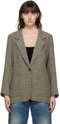 6397 Yellow Wool Tweed Blazer