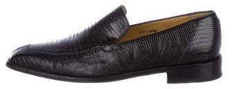 Mezlan Lizard Dress Loafers