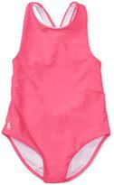 Ralph Lauren Cross-Back Swimsuit, Toddler & Little Girls (2T-6X)
