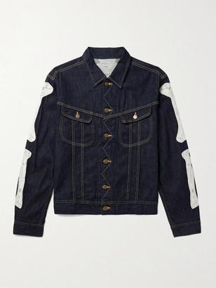 KAPITAL Appliqued Denim Jacket - Men - Blue