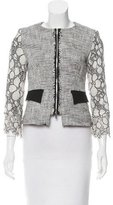 Karen Millen Lace-Trimmed Structured Jacket