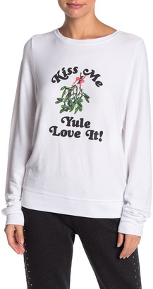 Wildfox Couture Kiss Me Pullover Sweater