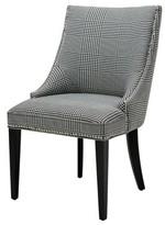 Eichholtz Bermuda Tufted Upholstered Solid Back Side Chair Upholstery Color: Black/White, Leg Color: Black