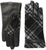 Lauren Ralph Lauren Brushed Tartan Logo Touch Gloves