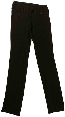 Anthony Vaccarello Black Viscose Trousers