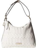 Calvin Klein Rattan Leather Hobo Bag