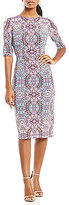 Maggy London Medallion Printed Jersey Midi Dress