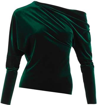 Me&Thee Catch A Buzz Emerald Green Velvet Top