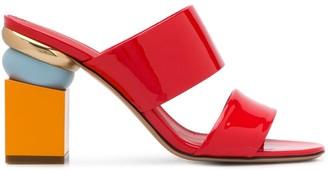 Salvatore Ferragamo Sculpted-Heel Sandals