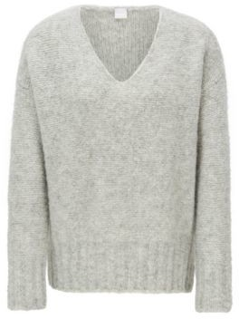 BOSS Relaxed-fit V-neck sweater with dropped shoulders