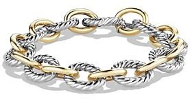 David Yurman Oval Large Link Bracelet with Gold