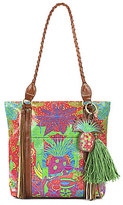 Patricia Nash Tropicana Summer Collection Rena Tasseled Braided-Handle Tote