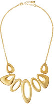 Kenneth Jay Lane Golden Graduated Geometric Shapes Necklace