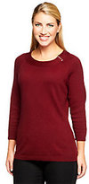 Denim & Co. 3/4 Sleeve Sweater with Buckle Detail