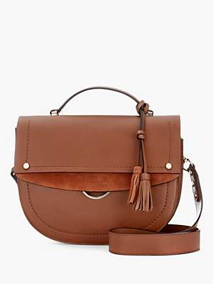 Mint Velvet Bailey Leather Shoulder Bag, Tan