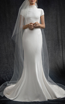 Elizabeth Kennedy Bridal High Neck Cap Sleeve Gown