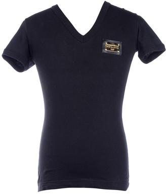 Dolce & Gabbana Black Cotton T-shirts