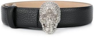 Philipp Plein Skull crystal belt