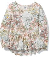 Old Navy Peplum Floral Top for Toddler